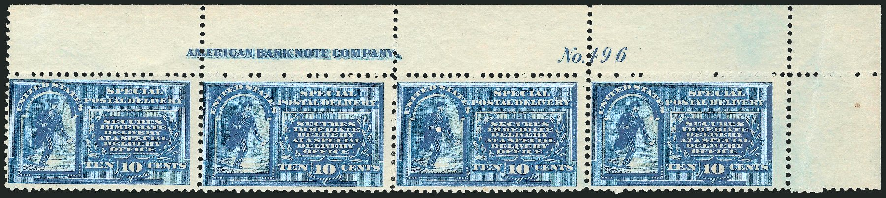 US Stamp Prices Scott Catalogue #E1 - 1885 10c Special Delivery. Robert Siegel Auction Galleries, Dec 2014, Sale 1090, Lot 1621