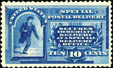 Price of US Stamps Scott E1 - 1885 10c Special Delivery. Spink Shreves Galleries, Jan 2015, Sale 150, Lot 233