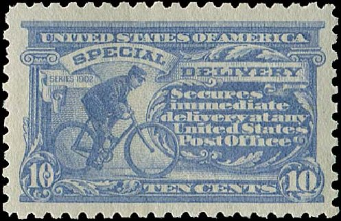 Costs of US Stamps Scott Cat. E10 - 10c 1916 Special Delivery. Regency-Superior, Aug 2015, Sale 112, Lot 1067