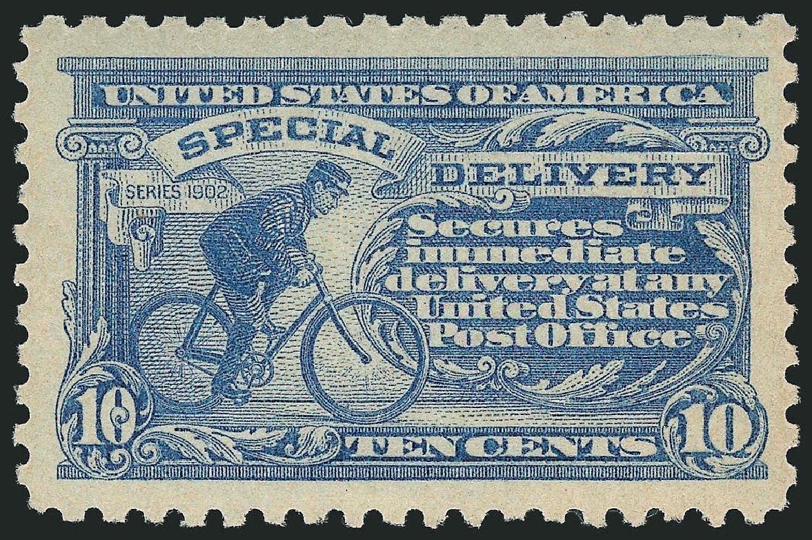 Value of US Stamps Scott # E10: 10c 1916 Special Delivery. Robert Siegel Auction Galleries, Dec 2014, Sale 1090, Lot 1627