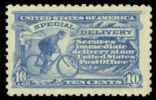 Value of US Stamp Scott Catalog E10: 10c 1916 Special Delivery. Daniel Kelleher Auctions, Jan 2015, Sale 663, Lot 2098