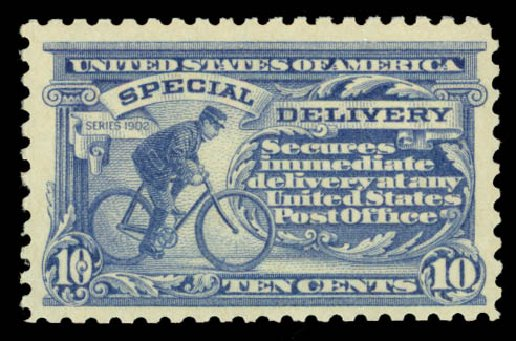 Values of US Stamp Scott Cat. E10 - 10c 1916 Special Delivery. Daniel Kelleher Auctions, May 2015, Sale 669, Lot 3294