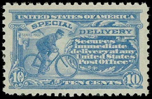 Prices of US Stamp Scott Cat. #E10 - 1916 10c Special Delivery. H.R. Harmer, Jun 2015, Sale 3007, Lot 3465