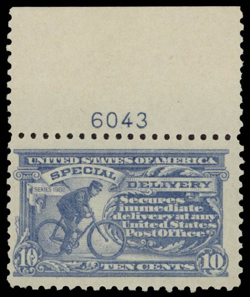 Price of US Stamps Scott Catalogue # E10: 1916 10c Special Delivery. Daniel Kelleher Auctions, May 2015, Sale 669, Lot 3292