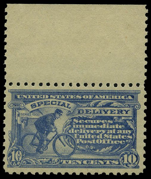 Prices of US Stamps Scott E10: 1916 10c Special Delivery. Daniel Kelleher Auctions, May 2015, Sale 669, Lot 3293