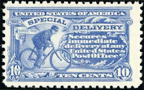 US Stamp Value Scott Cat. #E10 - 1916 10c Special Delivery. Spink Shreves Galleries, Jan 2015, Sale 150, Lot 236