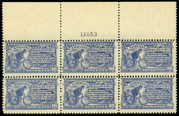 US Stamps Prices Scott Catalogue #E11 - 1917 10c Special Delivery. Daniel Kelleher Auctions, Oct 2014, Sale 660, Lot 2527