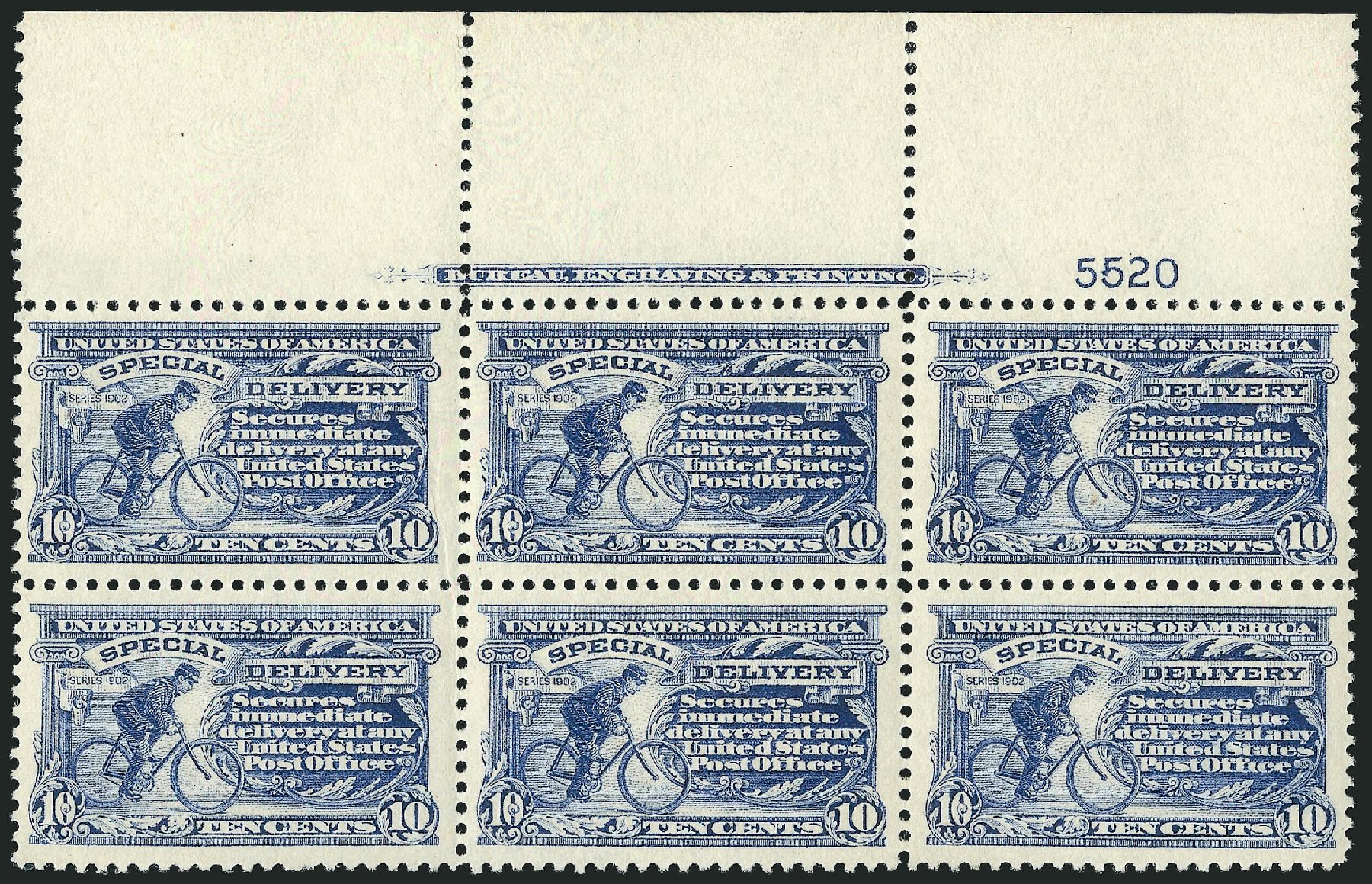 US Stamp Prices Scott Catalog E11 - 10c 1917 Special Delivery. Robert Siegel Auction Galleries, Feb 2015, Sale 1092, Lot 1428