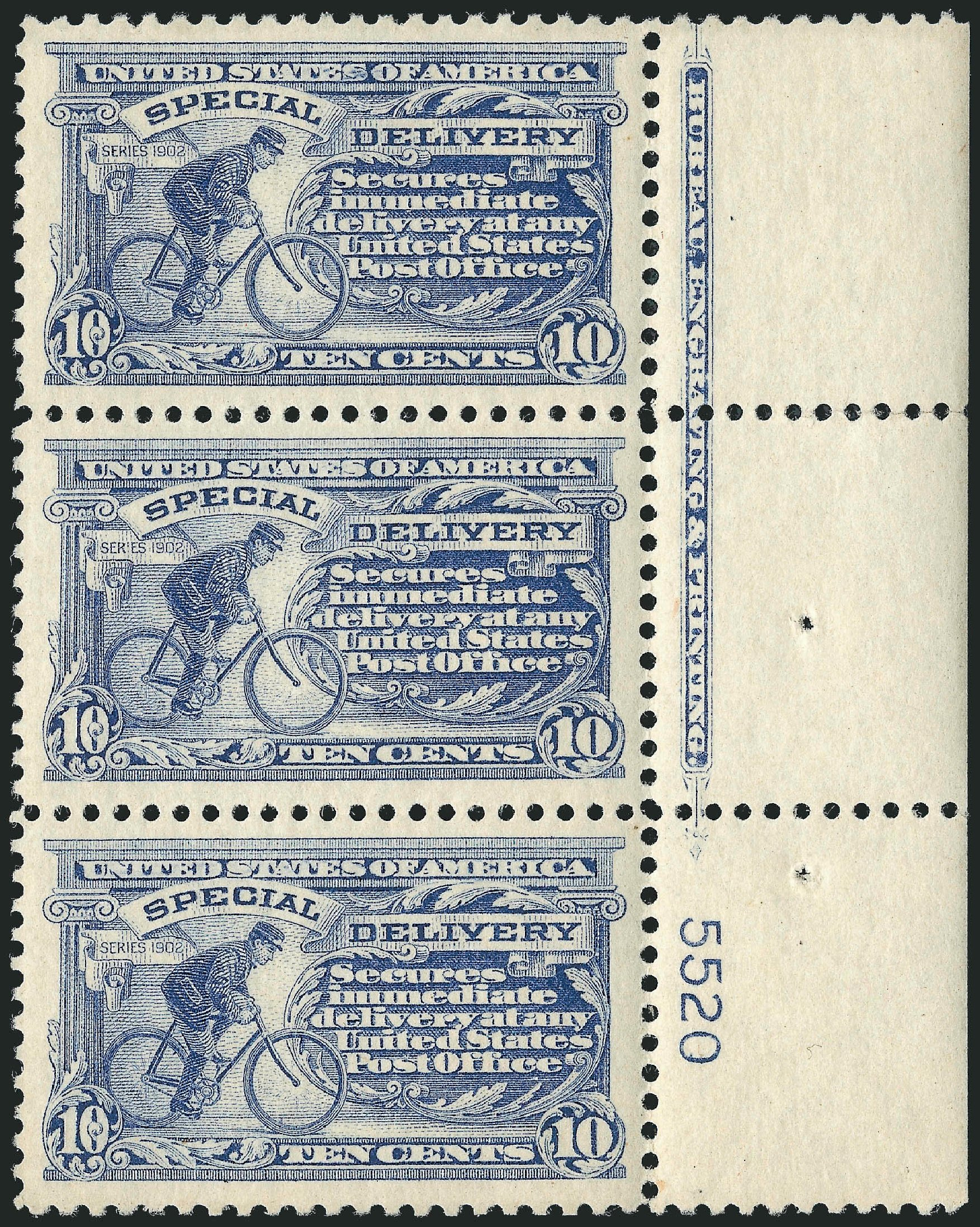 Values of US Stamps Scott # E11: 1917 10c Special Delivery. Robert Siegel Auction Galleries, Mar 2014, Sale 1067, Lot 1679