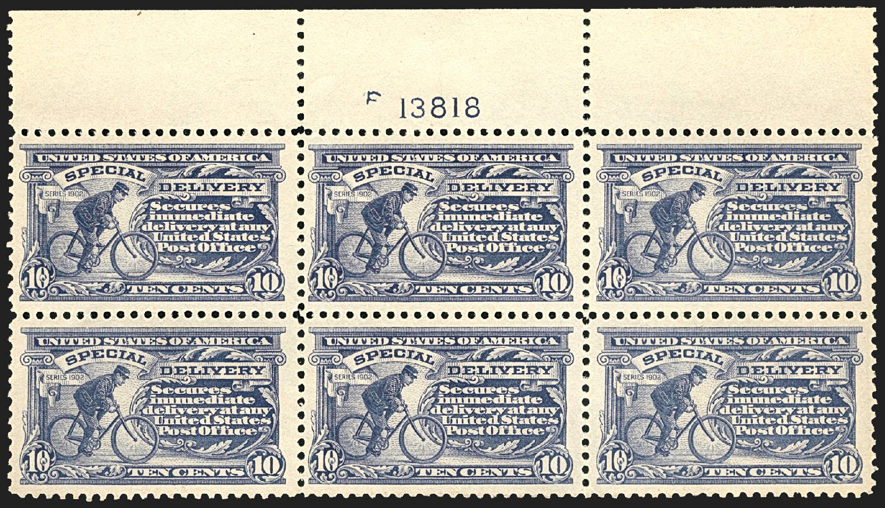 Price of US Stamp Scott Catalogue E11: 10c 1917 Special Delivery. Robert Siegel Auction Galleries, Jul 2015, Sale 1107, Lot 609