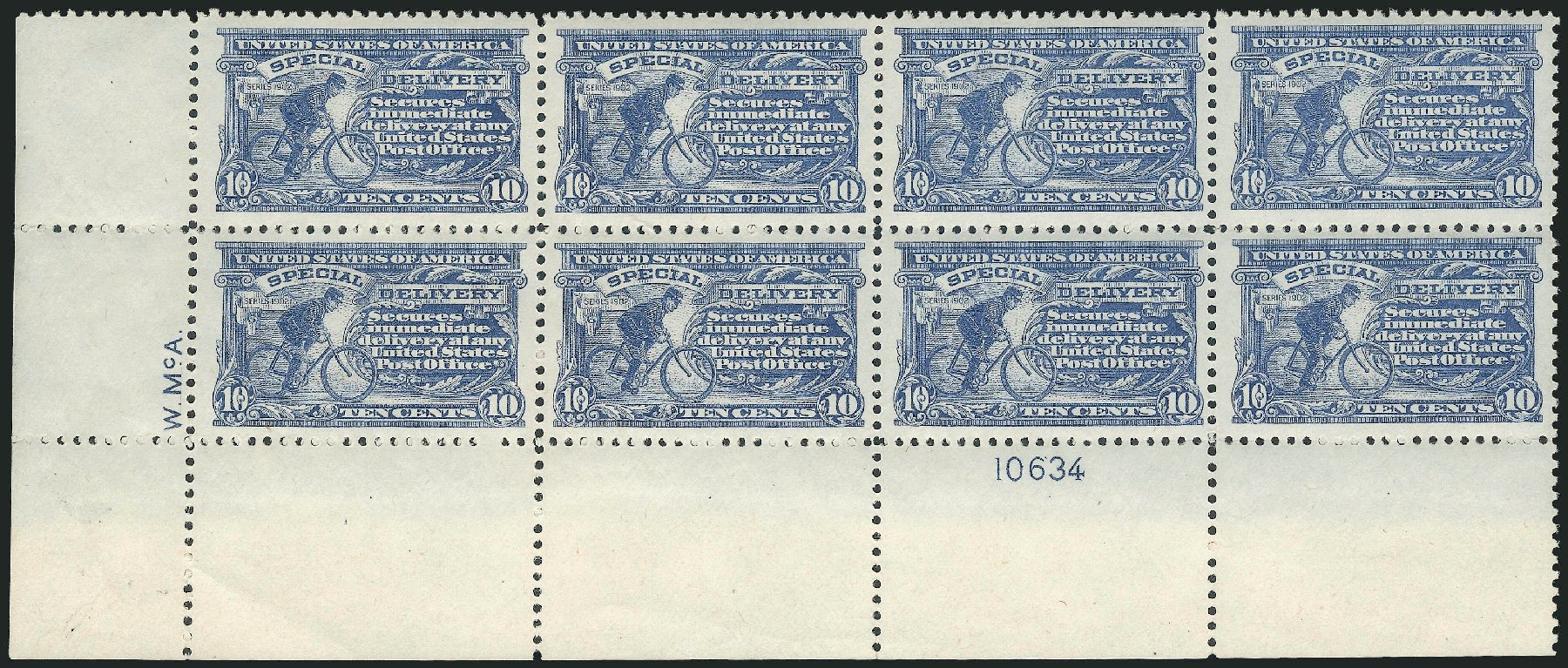 Value of US Stamps Scott #E11: 1917 10c Special Delivery. Robert Siegel Auction Galleries, Mar 2014, Sale 1067, Lot 1680