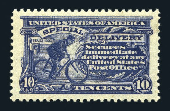 Cost of US Stamp Scott E11 - 10c 1917 Special Delivery. Harmer-Schau Auction Galleries, Aug 2015, Sale 106, Lot 2075