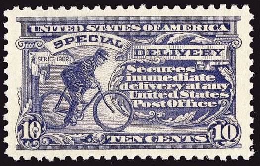 US Stamp Values Scott Catalog #E11: 10c 1917 Special Delivery. Spink Shreves Galleries, Jan 2014, Sale 146, Lot 513