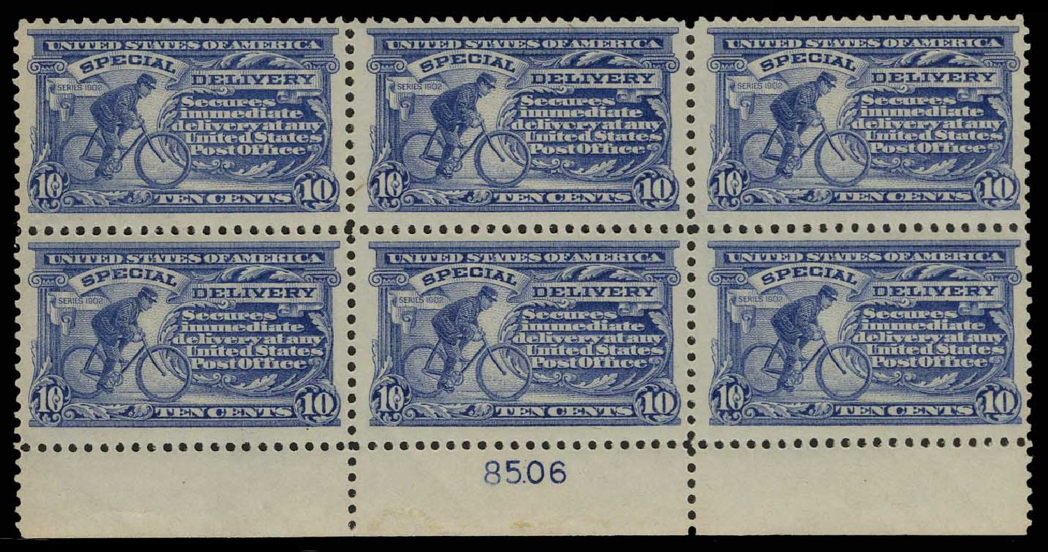 US Stamps Values Scott Cat. E11 - 10c 1917 Special Delivery. H.R. Harmer, May 2014, Sale 3005, Lot 1406