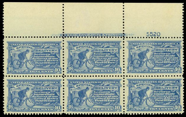 US Stamp Value Scott Catalog #E11: 1917 10c Special Delivery. Daniel Kelleher Auctions, Sep 2013, Sale 639, Lot 3766