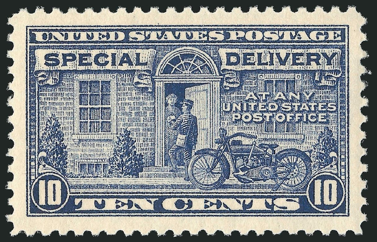 Cost of US Stamp Scott Catalogue E12: 1922 10c Special Delivery. Robert Siegel Auction Galleries, Feb 2015, Sale 1092, Lot 1429