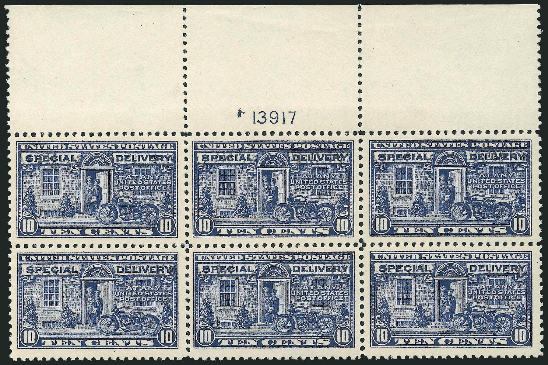 US Stamps Prices Scott Cat. #E12: 1922 10c Special Delivery. Robert Siegel Auction Galleries, Sep 2009, Sale 976, Lot 2269