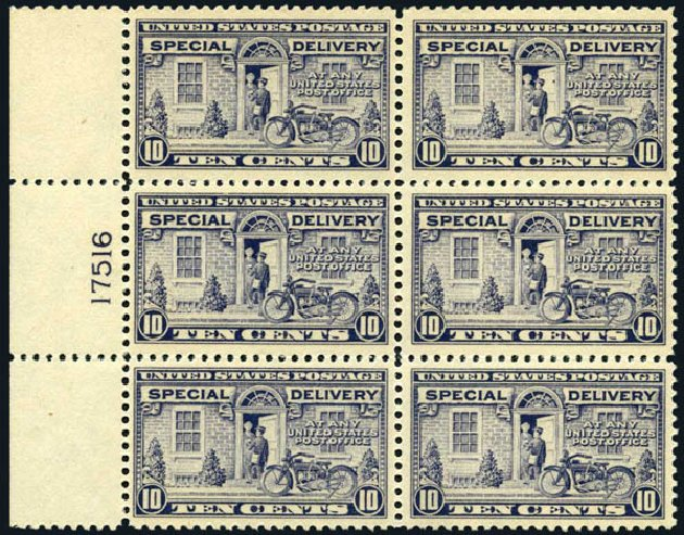 Value of US Stamps Scott Catalogue # E12 - 10c 1922 Special Delivery. Harmer-Schau Auction Galleries, May 2014, Sale 101, Lot 210