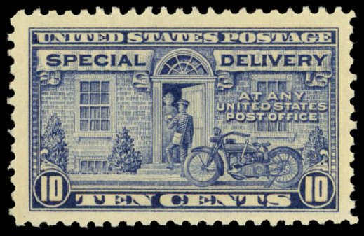 Cost of US Stamp Scott Cat. # E12 - 1922 10c Special Delivery. Daniel Kelleher Auctions, Dec 2014, Sale 661, Lot 450