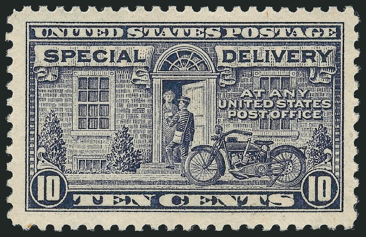 Cost of US Stamp Scott E12: 1922 10c Special Delivery. Robert Siegel Auction Galleries, Dec 2010, Sale 1000, Lot 1280