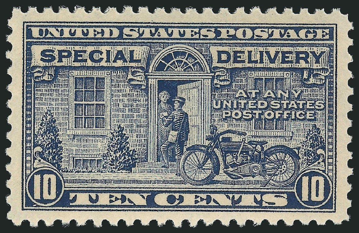 Values of US Stamps Scott Catalogue # E12 - 1922 10c Special Delivery. Robert Siegel Auction Galleries, May 2013, Sale 1044, Lot 330