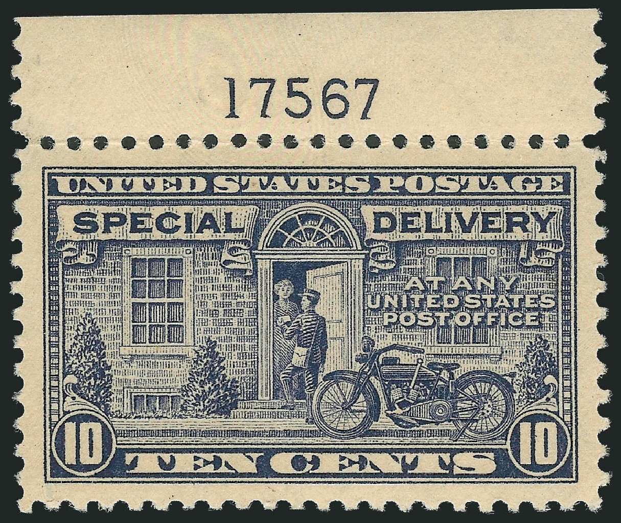 US Stamp Prices Scott Catalog E12: 1922 10c Special Delivery. Robert Siegel Auction Galleries, Jul 2013, Sale 1050, Lot 740