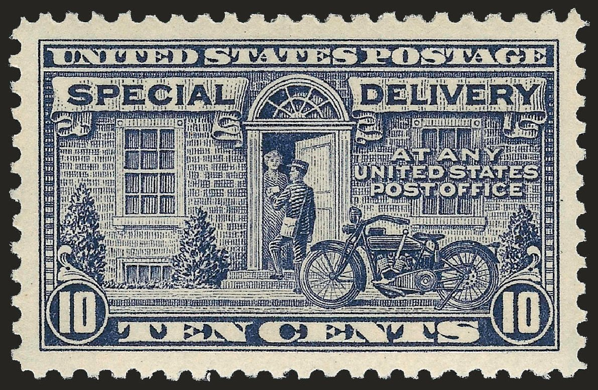 US Stamp Value Scott Catalogue # E12 - 1922 10c Special Delivery. Robert Siegel Auction Galleries, Sep 2009, Sale 968B, Lot 780