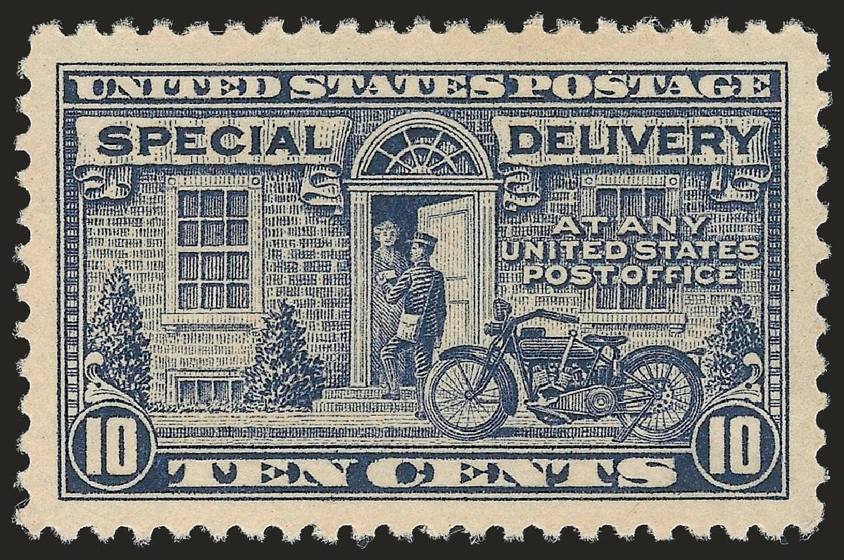 US Stamp Values Scott E12: 1922 10c Special Delivery. Robert Siegel Auction Galleries, Sep 2009, Sale 976, Lot 2270