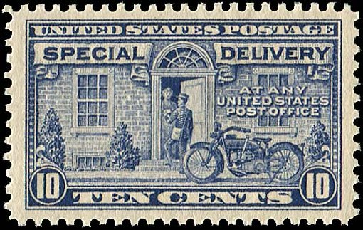 Values of US Stamp Scott E12 - 10c 1922 Special Delivery. Regency-Superior, Aug 2015, Sale 112, Lot 1071