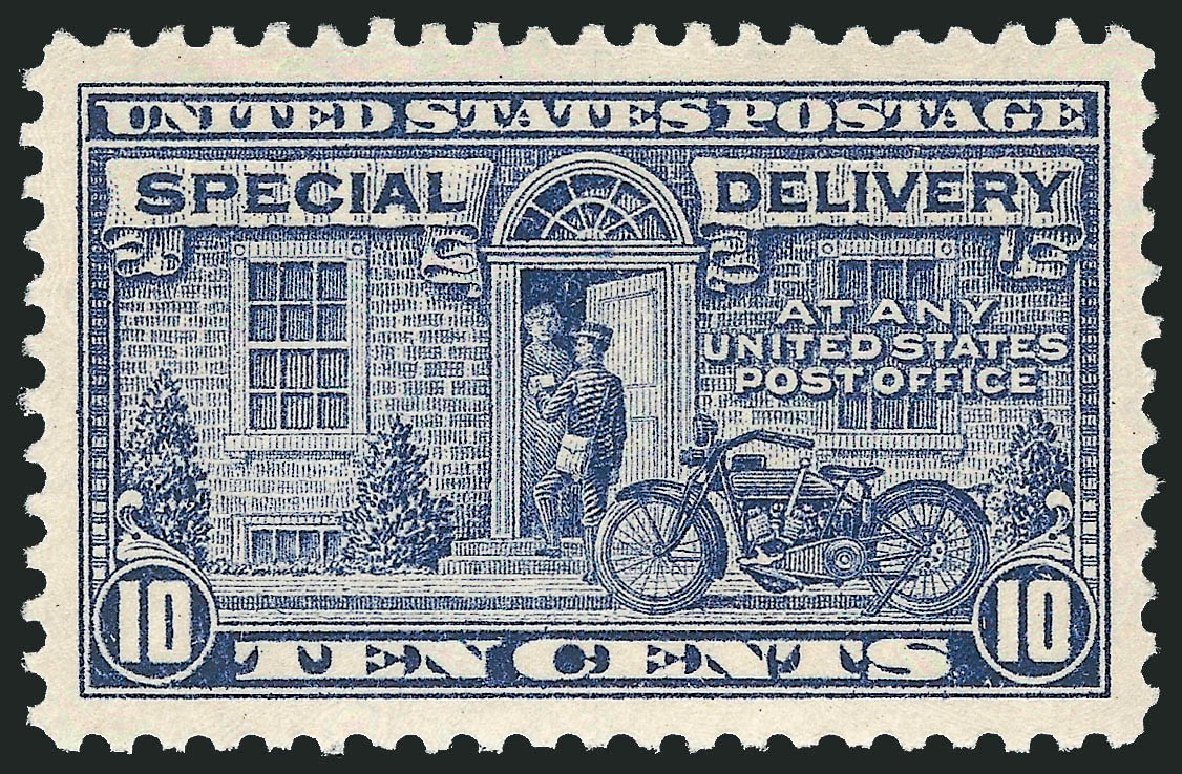 US Stamps Values Scott Catalogue #E12: 1922 10c Special Delivery. Robert Siegel Auction Galleries, Jul 2013, Sale 1050, Lot 741