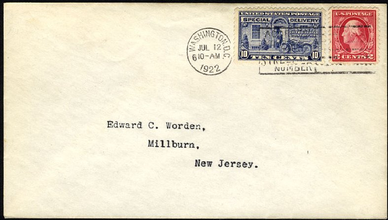 Prices of US Stamp Scott E12 - 1922 10c Special Delivery. Cherrystone Auctions, Jun 2009, Sale 200906, Lot 394