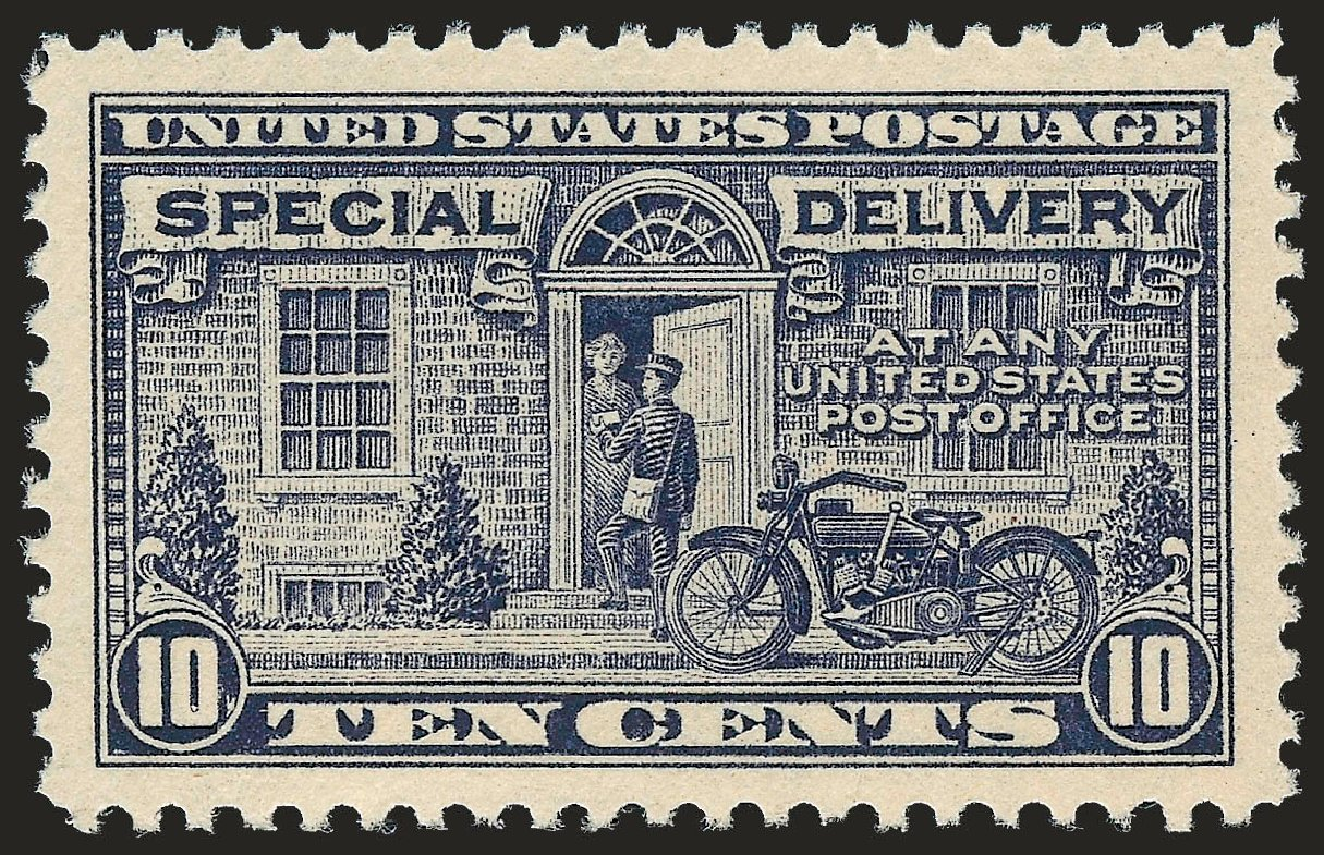 US Stamp Prices Scott Cat. # E12: 1922 10c Special Delivery. Robert Siegel Auction Galleries, Dec 2009, Sale 982, Lot 6074