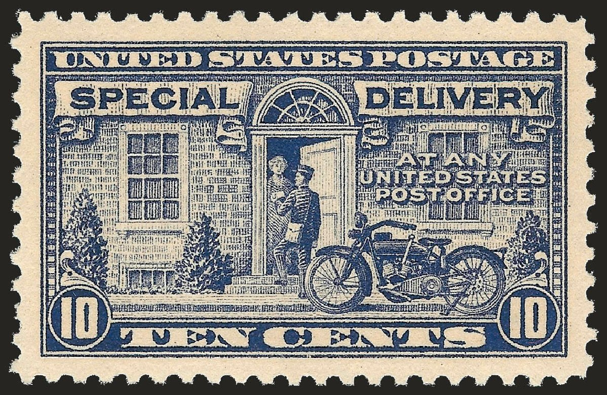 Value of US Stamp Scott Catalog E12 - 10c 1922 Special Delivery. Robert Siegel Auction Galleries, Dec 2008, Sale 967, Lot 5085