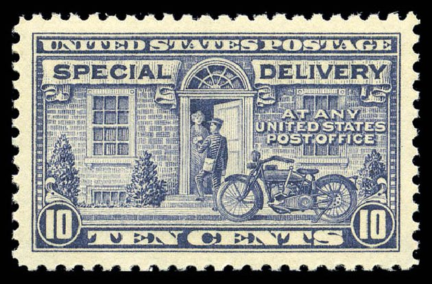 US Stamp Prices Scott Catalogue # E12 - 1922 10c Special Delivery. Matthew Bennett International, Sep 2010, Sale 331, Lot 892
