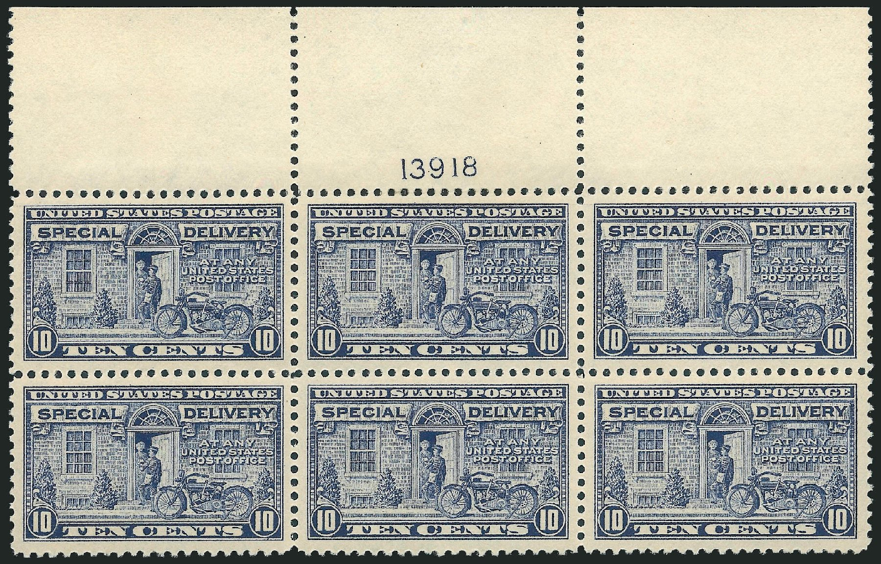 US Stamp Value Scott E12: 10c 1922 Special Delivery. Robert Siegel Auction Galleries, Jul 2013, Sale 1050, Lot 742