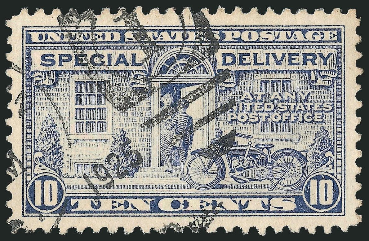 US Stamp Value Scott #E12: 1922 10c Special Delivery. Robert Siegel Auction Galleries, Jun 2009, Sale 975, Lot 2172