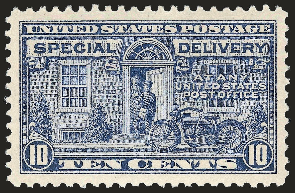 Price of US Stamp Scott Cat. # E12: 10c 1922 Special Delivery. Robert Siegel Auction Galleries, Jun 2009, Sale 975, Lot 2173