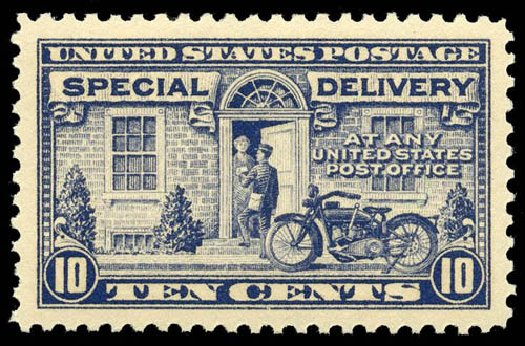Values of US Stamps Scott Catalogue E12 - 1922 10c Special Delivery. Matthew Bennett International, Apr 2008, Sale 326, Lot 606