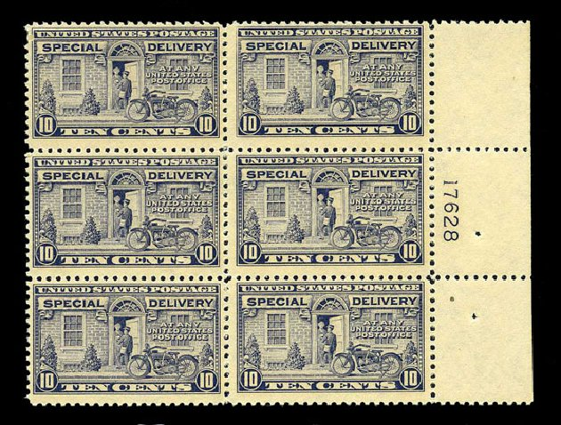 US Stamps Price Scott Catalogue E12 - 1922 10c Special Delivery. Harmer-Schau Auction Galleries, Aug 2015, Sale 106, Lot 2076