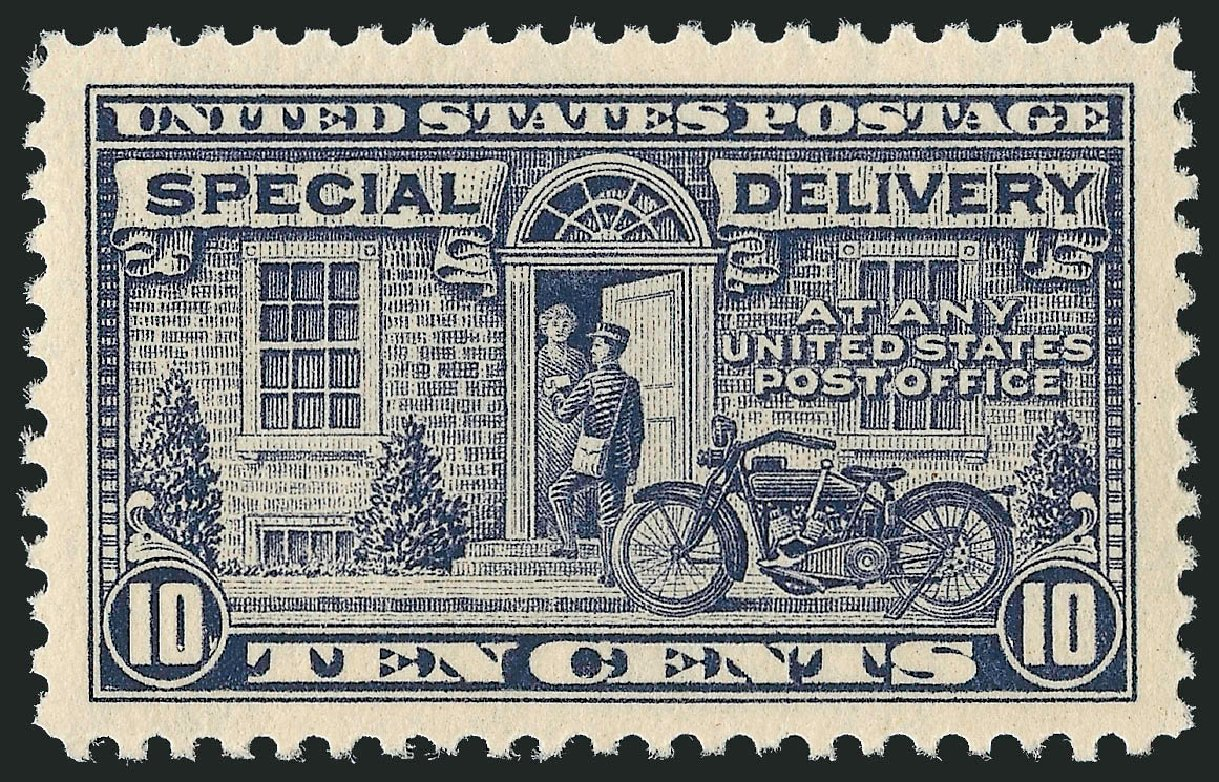 Price of US Stamp Scott Catalog #E12 - 1922 10c Special Delivery. Robert Siegel Auction Galleries, Dec 2008, Sale 967, Lot 5086