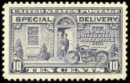 Prices of US Stamps Scott Catalogue E12: 10c 1922 Special Delivery. Spink Shreves Galleries, Jul 2015, Sale 151, Lot 376