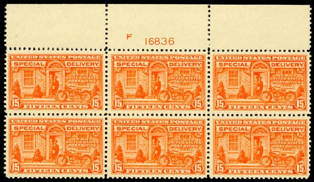 US Stamp Price Scott Catalogue E13 - 1925 15c Special Delivery. Daniel Kelleher Auctions, Sep 2013, Sale 639, Lot 3767