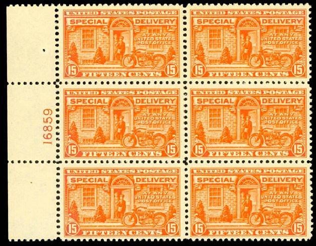 Price of US Stamp Scott Catalog #E13 - 1925 15c Special Delivery. Daniel Kelleher Auctions, Aug 2015, Sale 672, Lot 2917