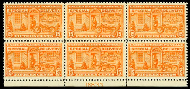 Prices of US Stamps Scott Catalogue E13 - 15c 1925 Special Delivery. Daniel Kelleher Auctions, Oct 2014, Sale 660, Lot 2530