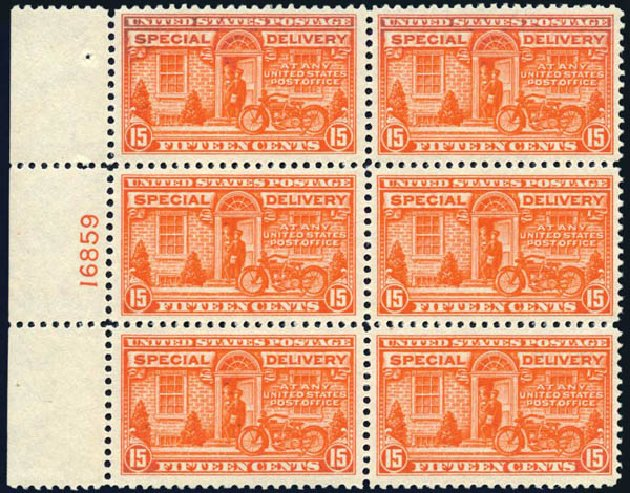 Cost of US Stamps Scott Catalogue #E13: 1925 15c Special Delivery. Harmer-Schau Auction Galleries, May 2014, Sale 101, Lot 211
