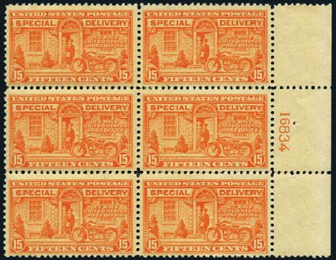 US Stamps Price Scott Catalogue # E13 - 1925 15c Special Delivery. Harmer-Schau Auction Galleries, May 2012, Sale 93, Lot 475