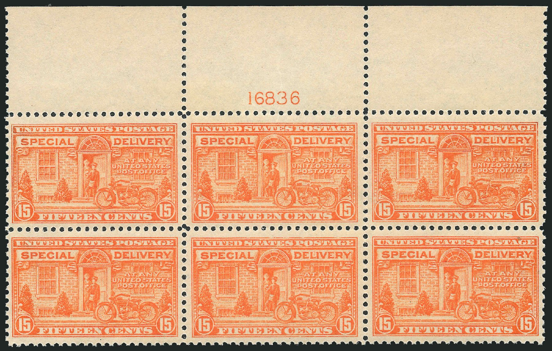 US Stamp Value Scott Catalogue #E13 - 15c 1925 Special Delivery. Robert Siegel Auction Galleries, Oct 2011, Sale 1014, Lot 2245
