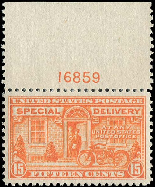 Value of US Stamp Scott Cat. #E13 - 1925 15c Special Delivery. Regency-Superior, Aug 2015, Sale 112, Lot 1072