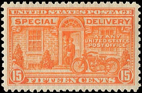 Prices of US Stamps Scott # E13: 1925 15c Special Delivery. Regency-Superior, Jan 2015, Sale 109, Lot 1453
