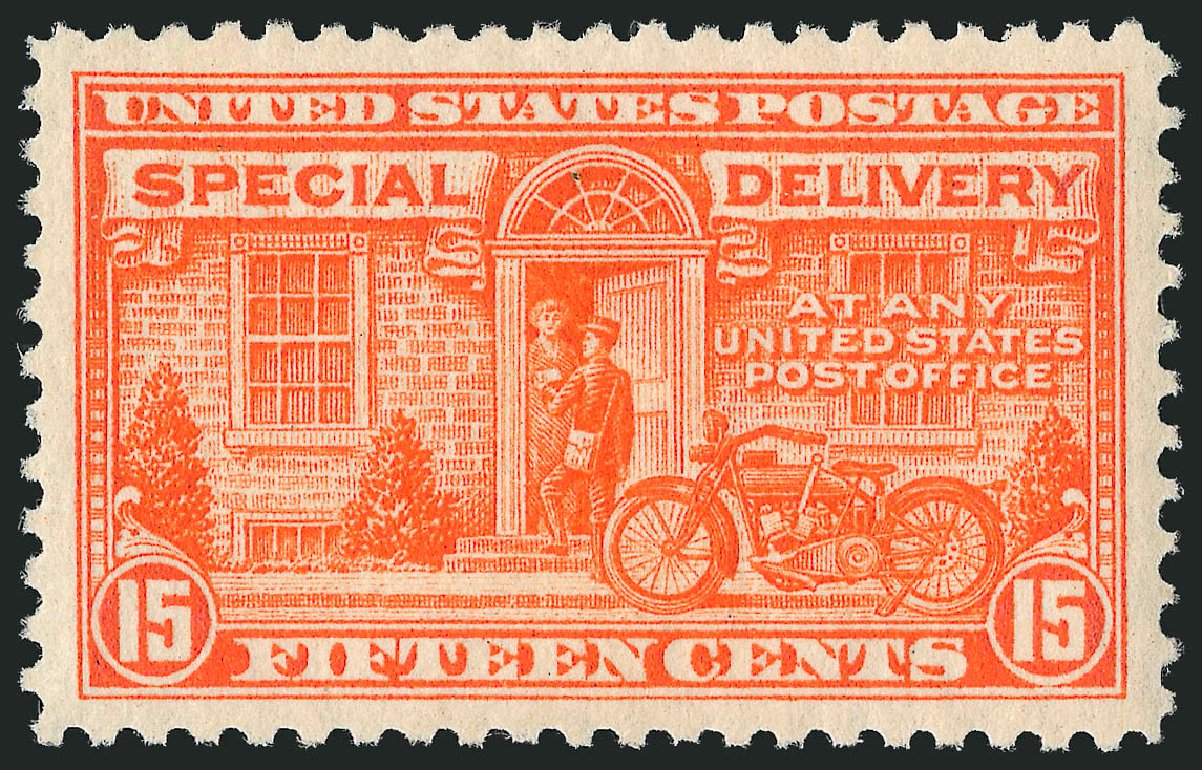 Costs of US Stamps Scott Cat. E13 - 15c 1925 Special Delivery. Robert Siegel Auction Galleries, Mar 2012, Sale 1019, Lot 943